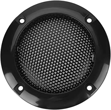 Lazmin 2 Inch Speaker Grill Cover Guard Protector Speaker Decorative Circle for Car with Protective Black Iron Grille Mesh 黑色