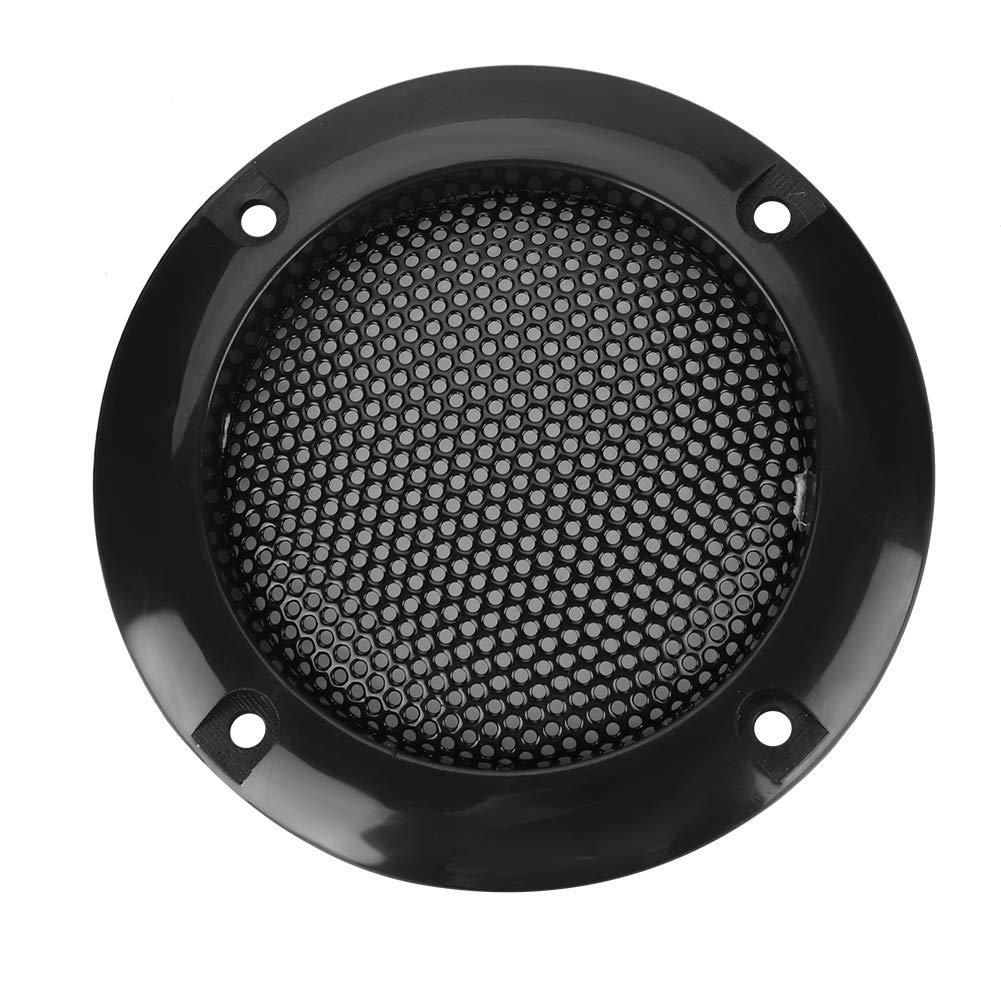 Haut-Parleur d/écoratif en Acier Mesh Circle Car Speaker Protective Mesh Cover fournissent Une Protection pour Les Enceintes Bewinner Couverture de Haut-Parleur de 2 Pouces Noir