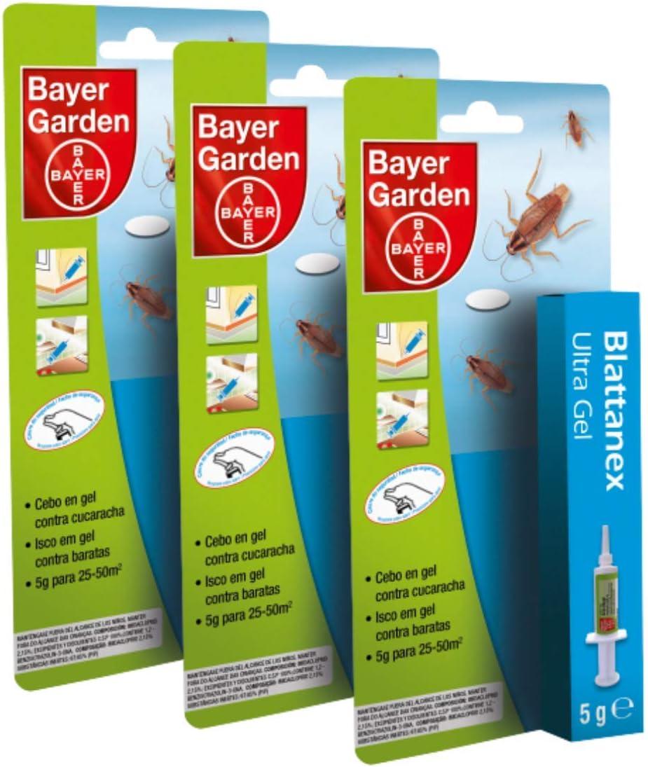 Bayer Garden Gel Anticucarachas Cebo contra Cucarachas 5 Gramos Pack de 3 Unidades