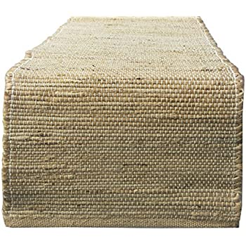 Chardin Home Eco Friendly Natural Jute/hemp Table Runner, Size: 13u201dx72u201d