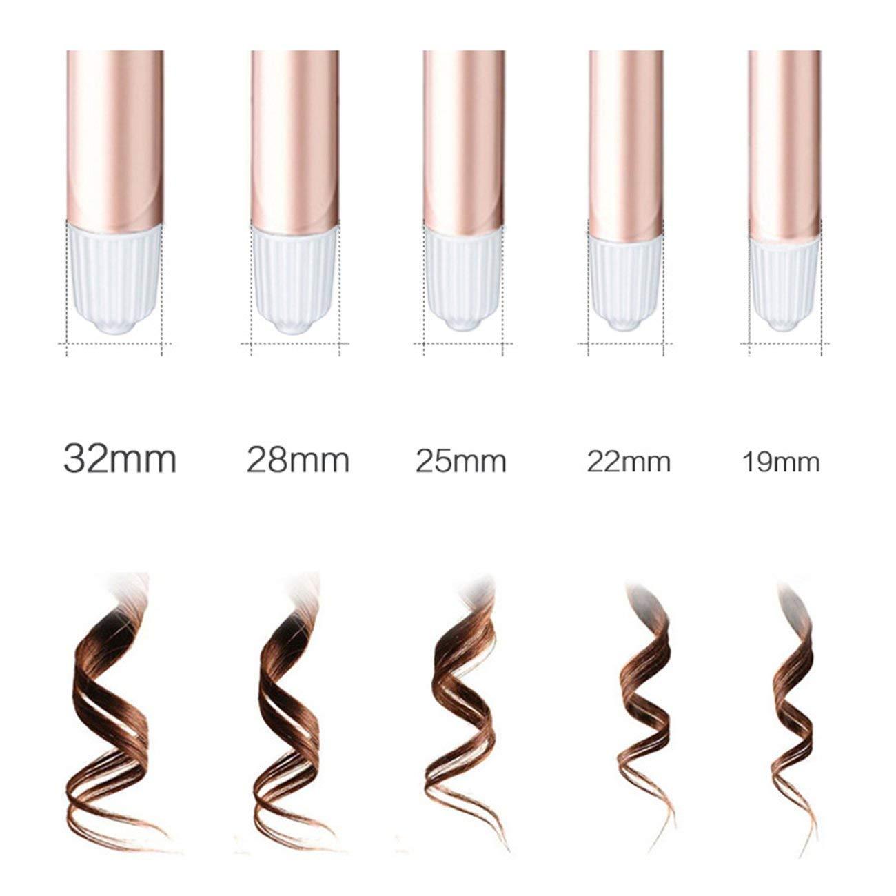 Pantalla LCD digital mojado rodillo de pelo de cerámica eléctrico pelo rizado varita del rodillo: Amazon.es: Belleza