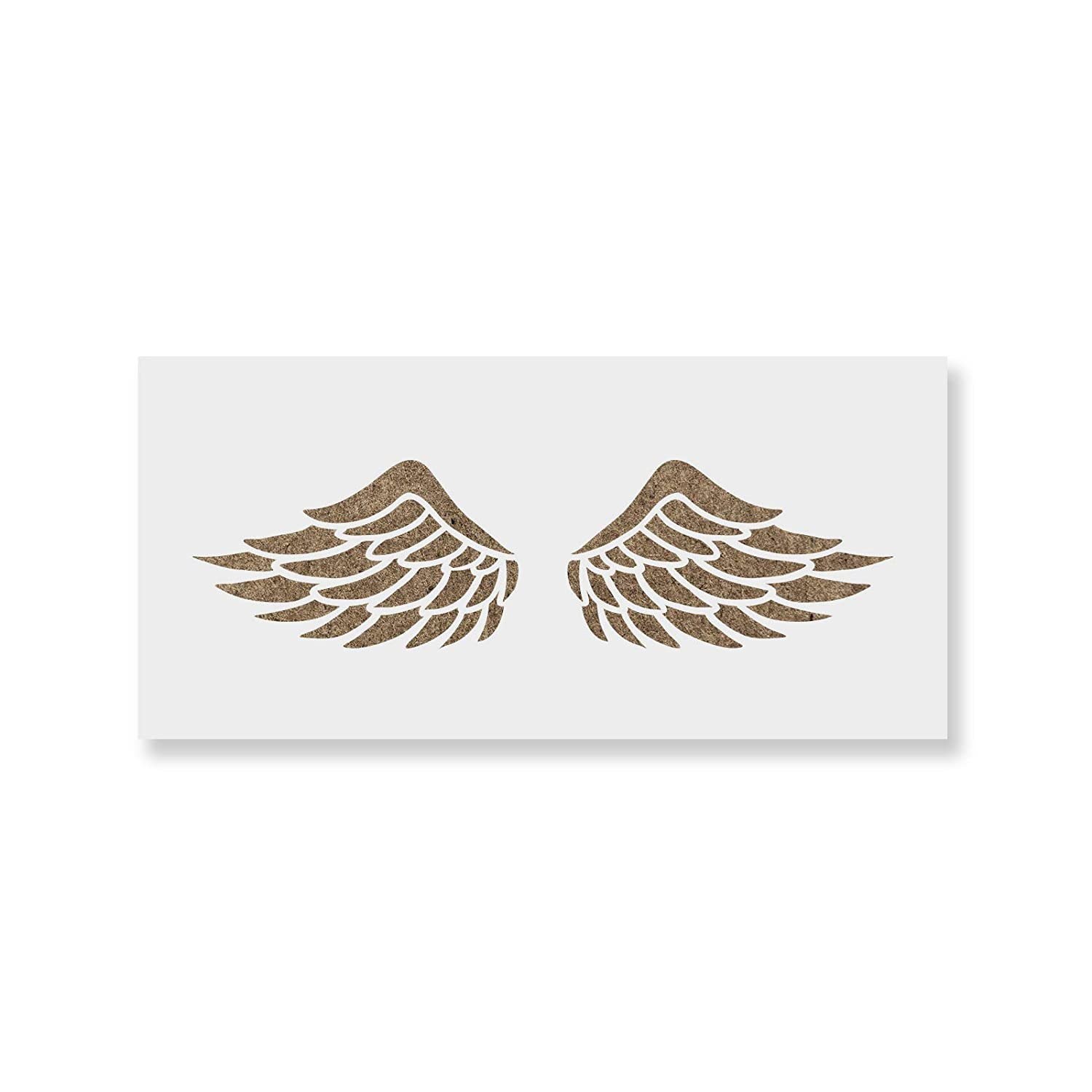 Wings Stencil Template for Walls and Crafts Reusable Stencils for Painting in Small /& Large Sizes