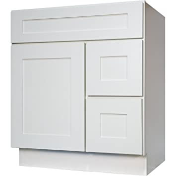 Everyday Cabinets Inch Bathroom Vanity Single Sink Cabinet In - Single bathroom vanity cabinets