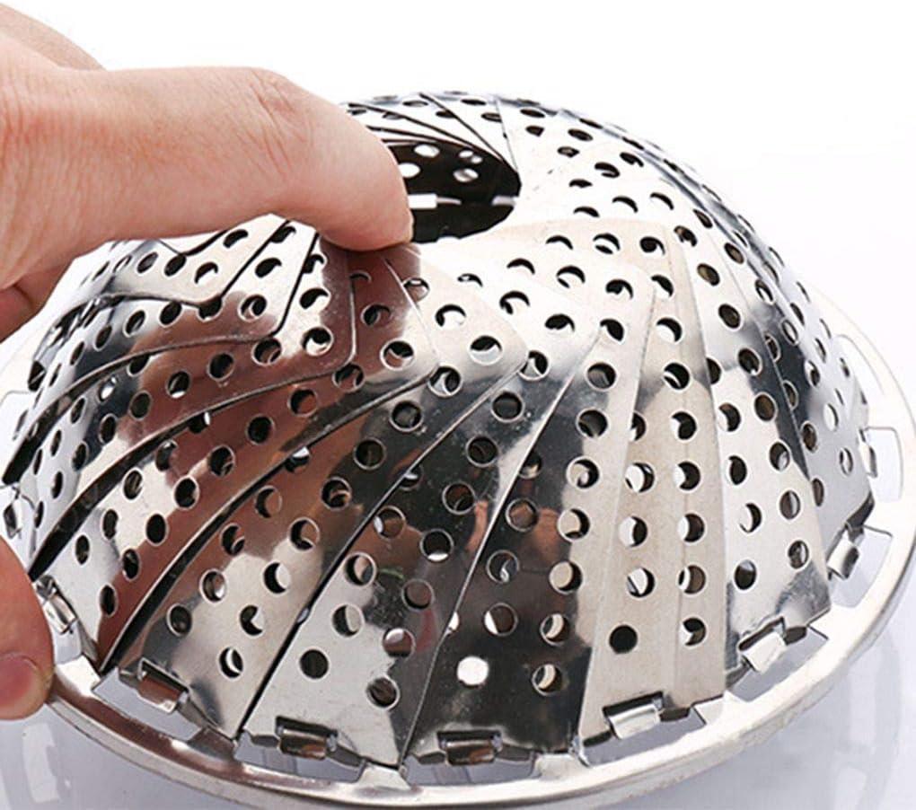 Aiming Edelstahl Folding Dampfgarer Multifunktionale Faltbare Garblech Gem/üse Obstkorb