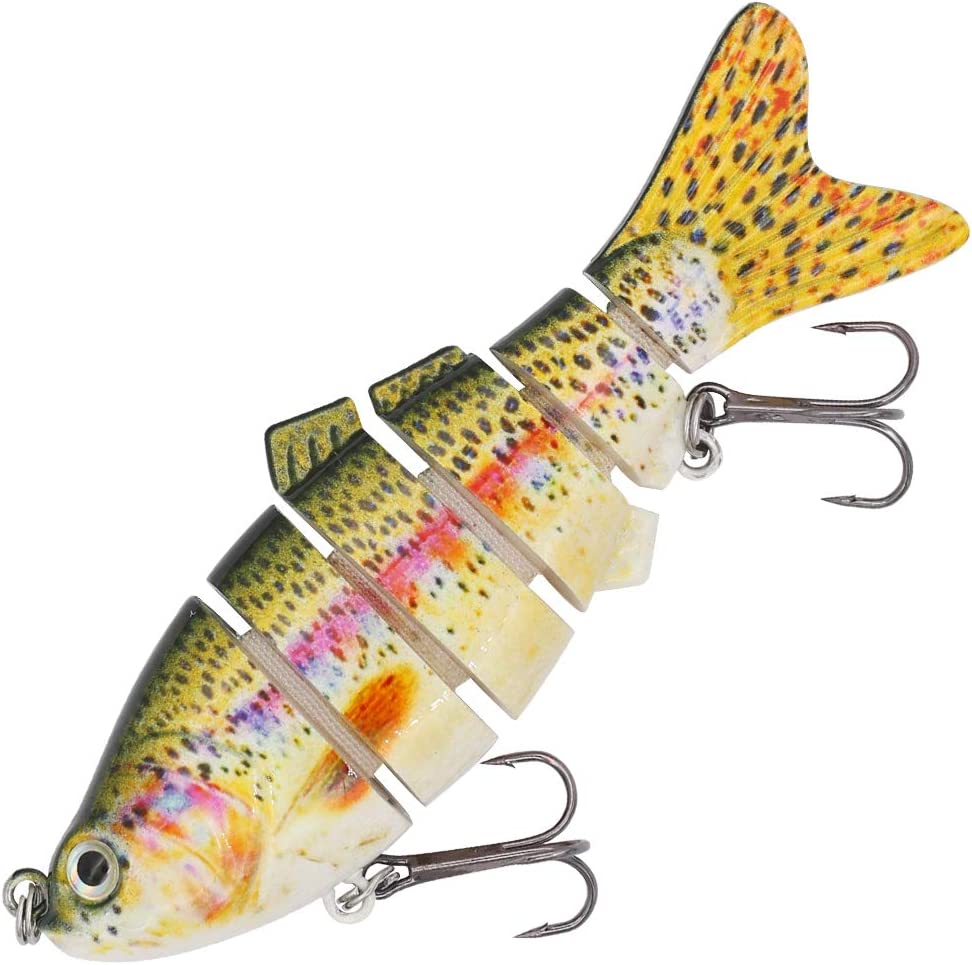 Fishing Fish Lures Baits Bass Crankbait Swimbait Jointed Tackle Trout Pike Y3X9
