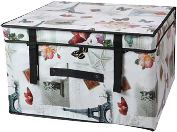Dabuty Online, S.L. Caja Organizador de Ropa, Toallas, sabanas, Zapatos etc… Diseño Paris con Tapa, Impermeable y Resistente. Tamaño 60x40x30cm: Amazon.es: Hogar