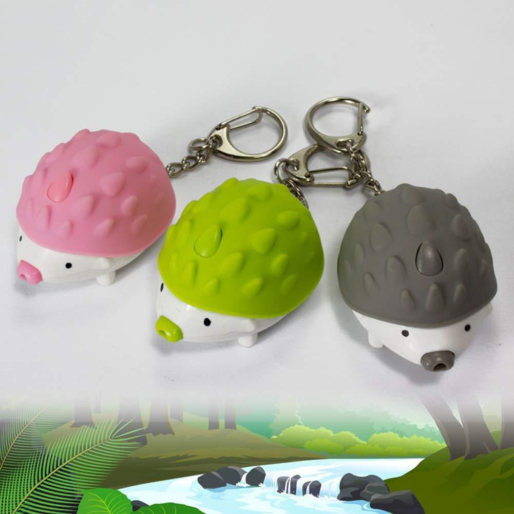 Cute Hedgehog LED Sound Keyring Car Key Chain Handbag Hanging Decor Gift Toy good01 Key Chain Hanging Hedgehog Glowing