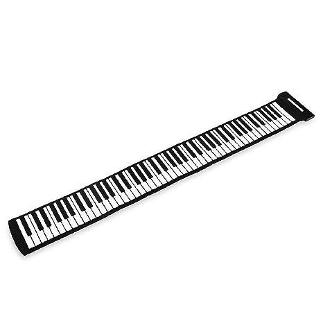 Profesional suave portátil plegable de instrumento musical Pro 88 teclas Roll Up Piano electrónico teclado MIDI