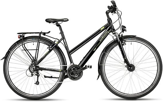 Hawk Bikes Green Trekking Lady – – Bicicleta para mujer de bicicleta – Bicicleta de trekking – Marco de Aluminio con 24 Marchas. y dinamo de buje: Amazon.es: Deportes y aire libre