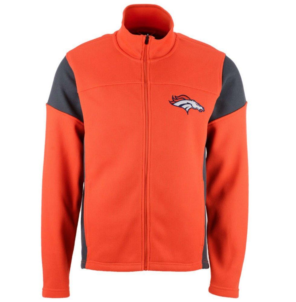 Denver Broncos大人のサイズ大GIIIメンズDraw Play Full Zipジャケット – オレンジ   B06WWKQKTC