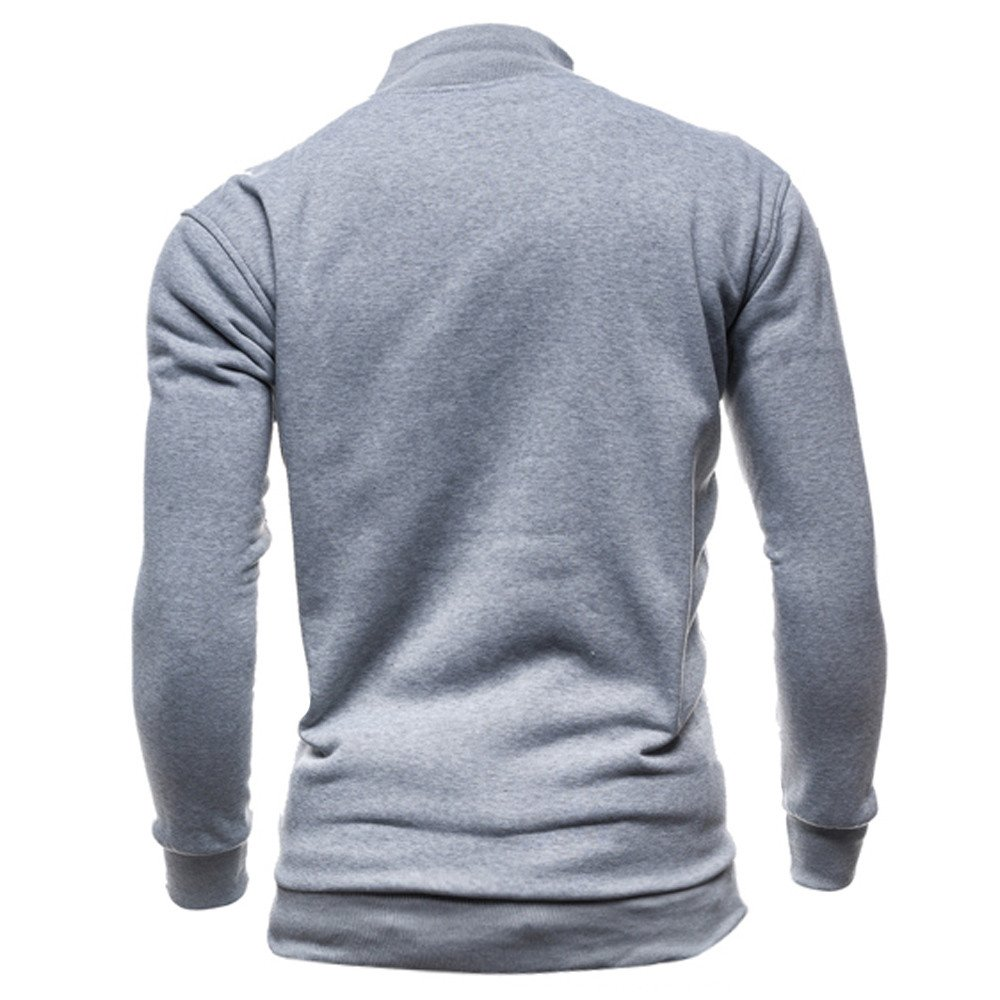Colmkley Mens Casual Slim Fit Full Zip Pullover Long Sleeve Outwear Sweatshirt