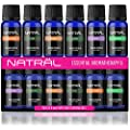 NATRÄL Essential Aromatherapy Set of 6, 100% Pure and Natural Essential Oil, 6/10ml Bottles
