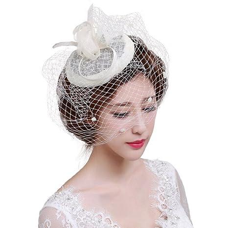 Bibi Mariage Chapeau Mariage Accessoire Cheveux Mariage Beret Mariage avec  Violette Voile Court de Mariage Coiffure
