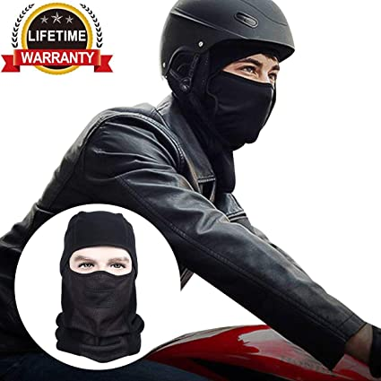 Balaclava Ski Face Mask, Motorcycle Winter Mask, Outdoor Windproof Neck Warmer Tactical Ninja Hood Mask (Thick mask)