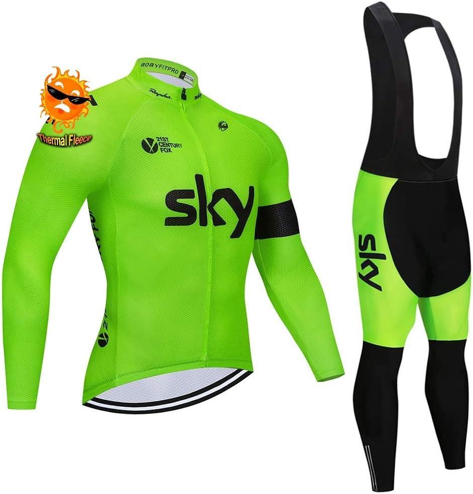 V/élo VTT V/êtements Manches Longues et Pantalons Cuissard Cycliste Long ADKE Homme Maillot Cyclisme Hiver