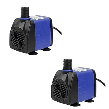 amazon com aquaneat 2pcs 160 gph submersible water pump adjustable