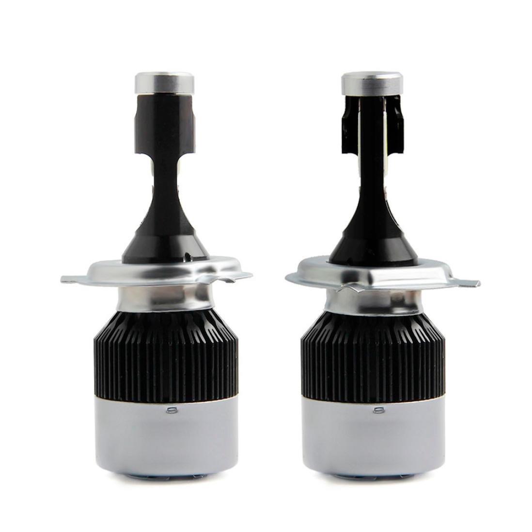 ELOGOOG Car LED Headlight Conversion Kit 72W 8000LM Car Beam Bulb Driving Lamp 6500K (H4)