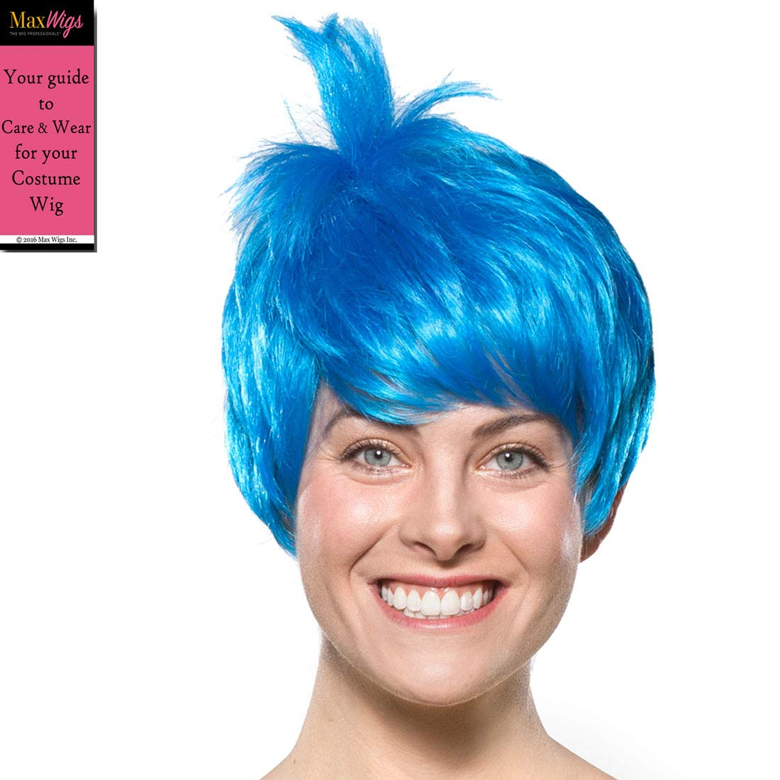 Joy Inside Out Color Blue - Enigma Wigs Womens Joyous Emotion Happy Bundle Costume Wig Care Guide