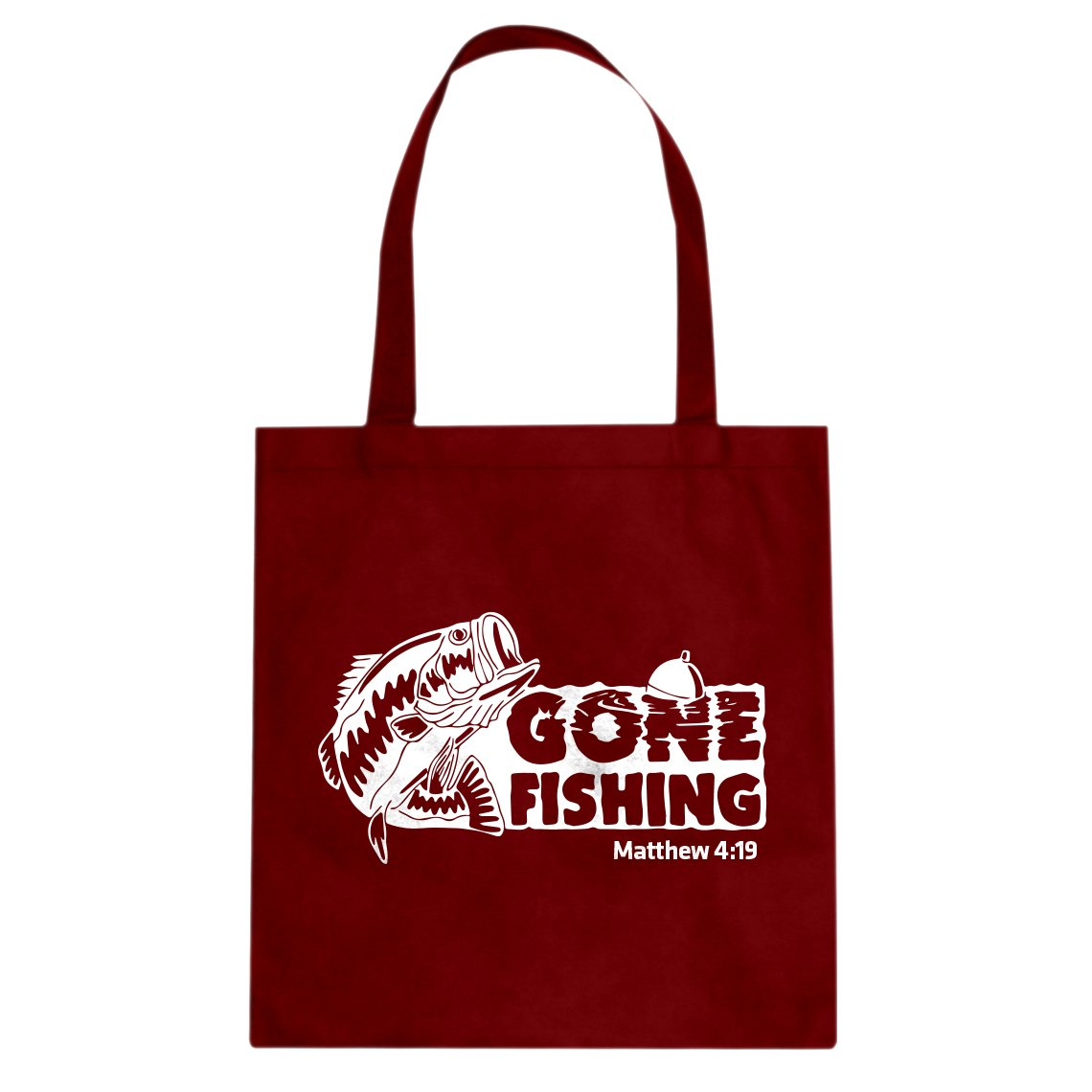Indica Plateau Gone Fishin Cotton Canvas Tote Bag
