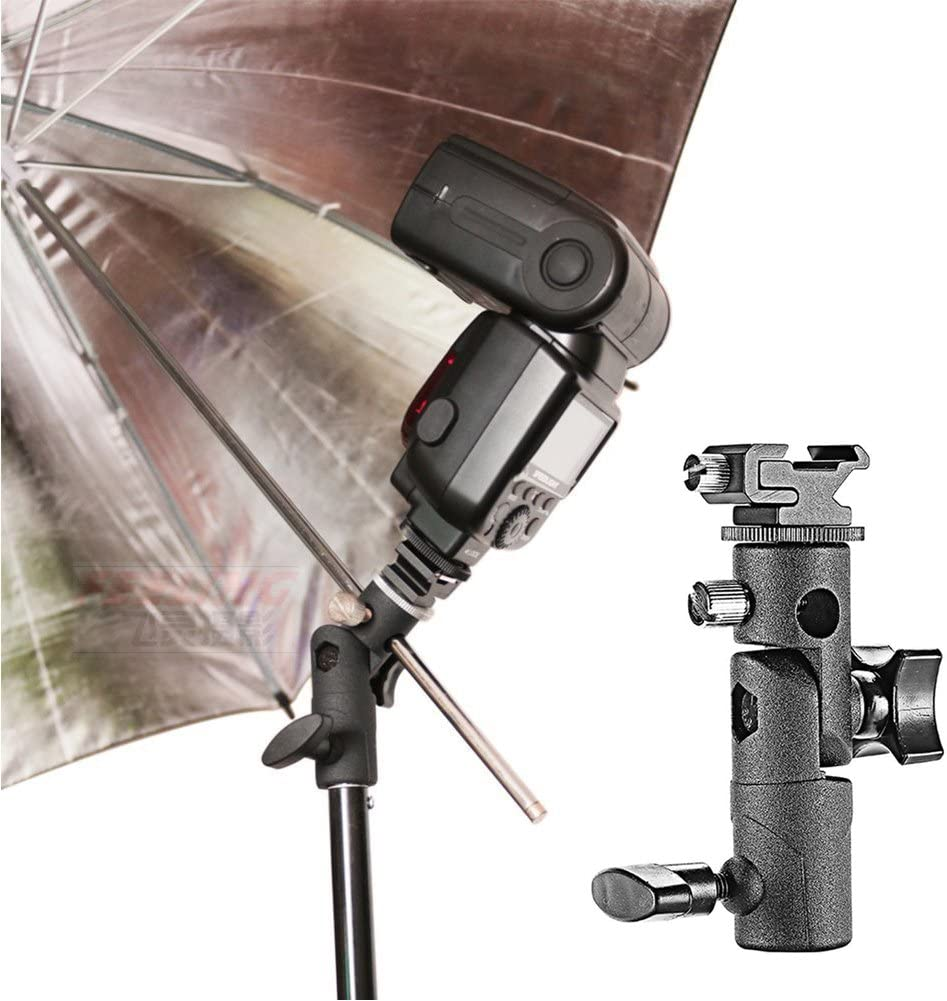 2Pcs Camera Speedlite Stand and Umbrella Holder Mount 180/° Swivel Light Stand for Camera DSLR Nikon Canon Pentax Olympus and Other DSLR Flashes Studio Light LED Light Flash Bracket Mount