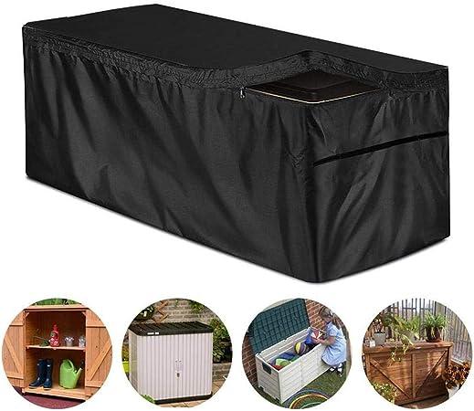 Wood.L Funda para Baúl De Almacenamiento Exterior Cubierta Protector Al Jardín Caja De Almacenaje Baúl De Almacenaje Cofre Cobertizo De Jardín Exterior Impermeable Al Aire Libre Protección: Amazon.es: Hogar