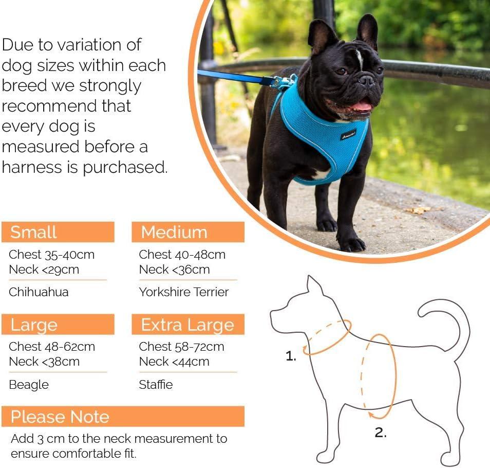 S, Brown Tartan AllPetSolutions Dog Puppy Harness Soft Adjustable Reflective Comfortable Vest