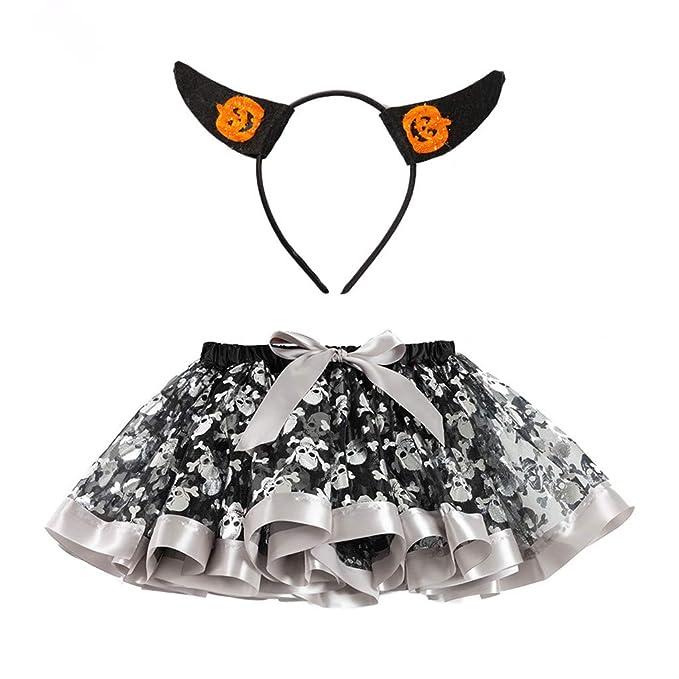 QinMMROPA Falda de Ballet de Baile de tutú de Halloween para ...