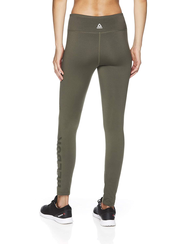 7d39ebbb Reebok Women's Fleece Lined Legging - Full Length Performance Compression  Workout Pants