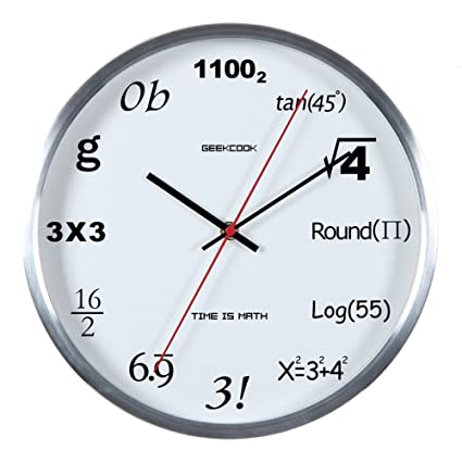 Amazon.com: Qiao Graceful Digital Creative Clock Living Room Office ...