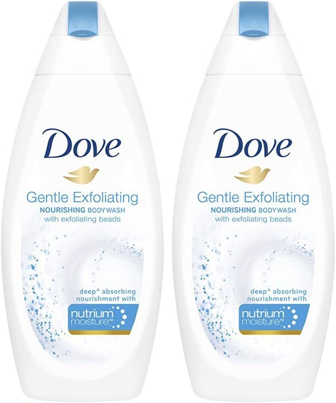 Dove Gentle Exfoliante Nutriente Body Wash - 190 ml (Pack de 2 ...