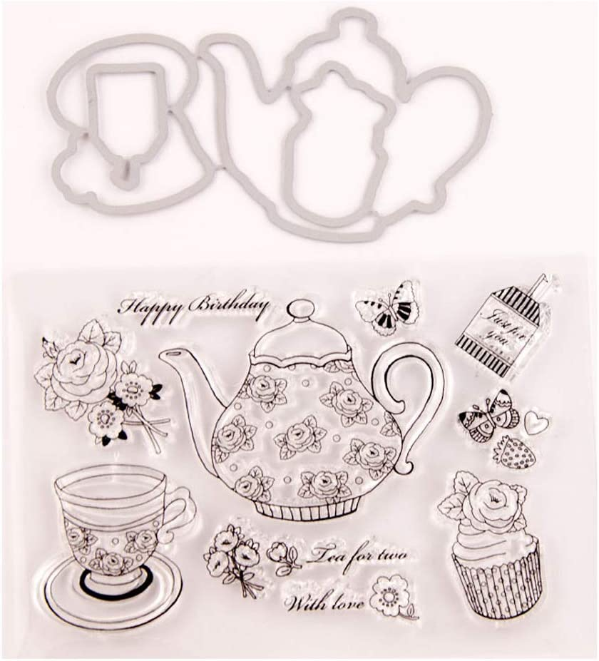 Teapot and teacup Metal Cutting Dies Stencil for DIY Scrapbooking Album Card ES