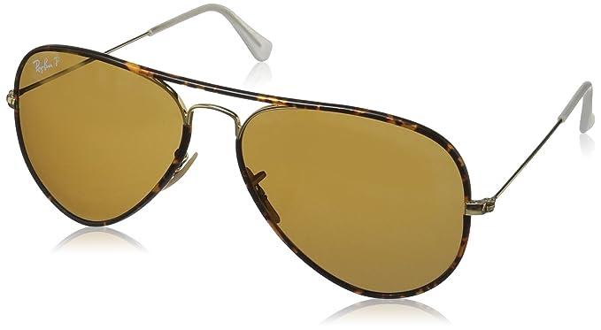 e0d2509d2a10bc Amazon.com  Ray-Ban Aviator Full Color Polarized Sunglasses, Arista ...