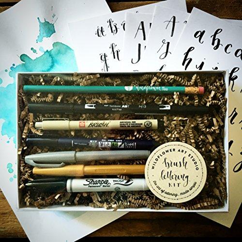 Brush lettering kit diy starter set by