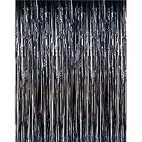 Super Z Outlet 3.2 ft x 9.8 ft Metallic Tinsel Foil Fringe Curtains for Party Photo Backdrop Wedding Decor