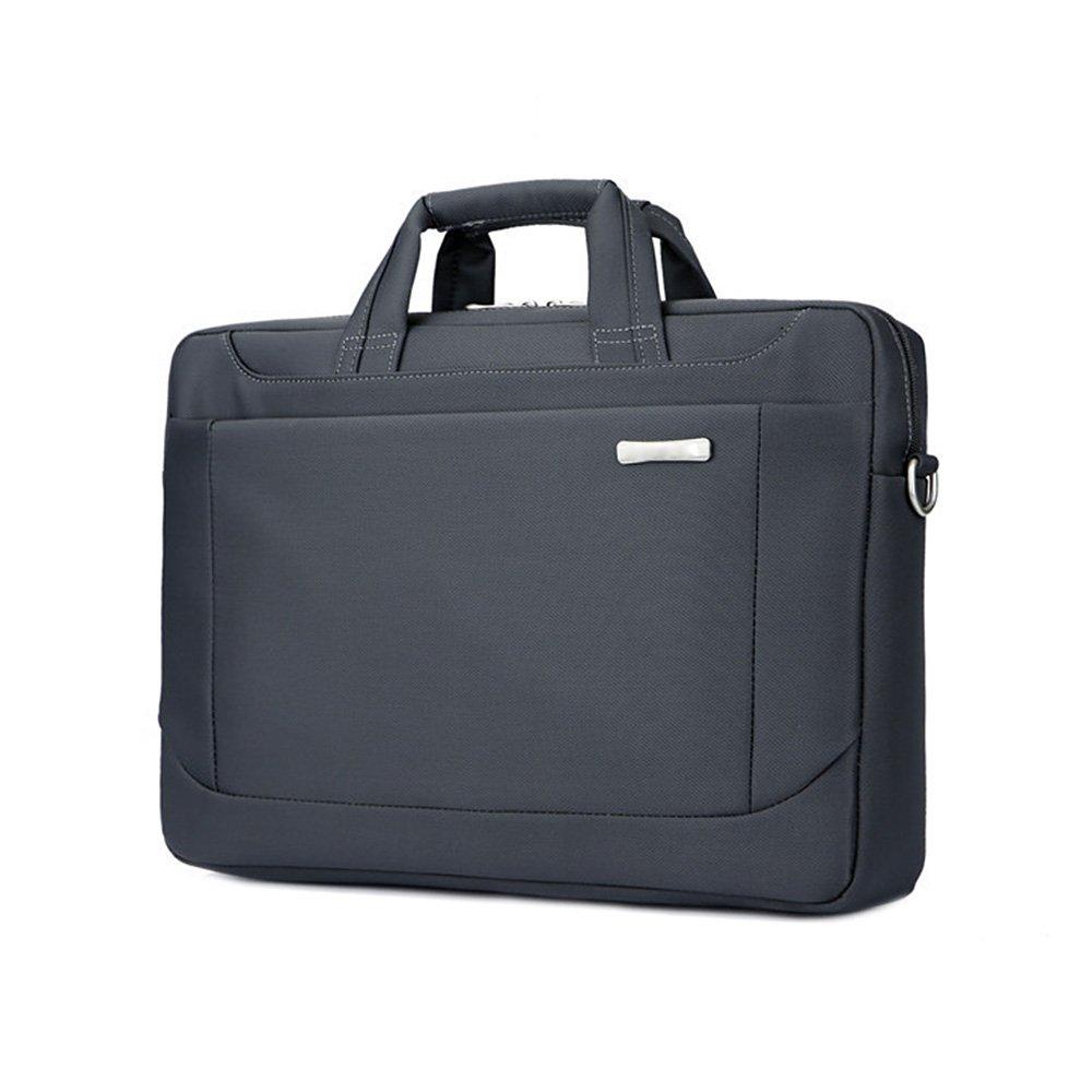 Jia Hu 1Pc Laptop Briefcase Messenger Bag Portfoli Waterproof Tablet Carry for College Business Black