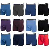 Fruit of the Loom, 12 Pack Random, Mens Underwear, Underwear for Men, Cotton Underwear, Boxer Briefs with Fly, Tag Free