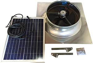 20-Watt Gable Solar Attic Fan with Thermostat / Humidistat (23 x 23 x 6 IN) - Brushless Motor – Solar Vent Fan - Hail and Weather Resistant – Solar Powered Attic Fan for Homes - by Remington Solar