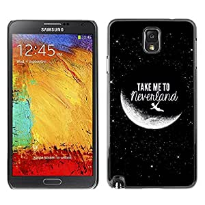 Be Good Phone Accessory // Dura Cáscara cubierta Protectora Caso Carcasa Funda de Protección para Samsung Note 3 N9000 N9002 N9005 // Take Me To Moon Sky Cosmos Love