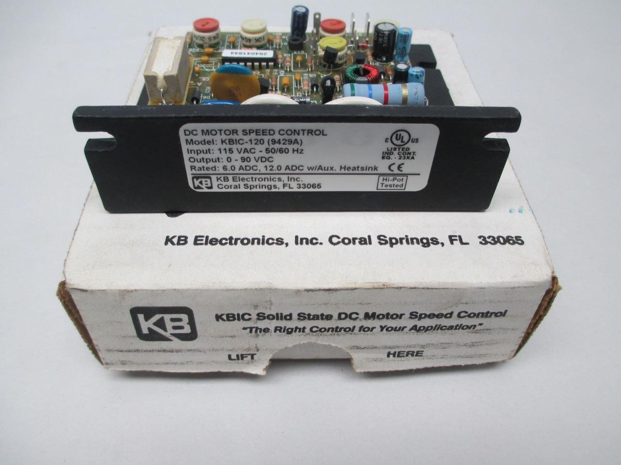 NEW KB ELECTRONICS KBIC-120 9429A 115V-AC 0-90V-DC 12A DC MOTOR ...