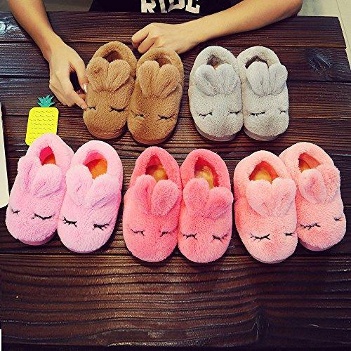 OverDose Nette Kinder Mädchen Non-Slip Bowknot Weiche Sole Krabbelschuhe Samt Schnee Stiefel Krippe Schuhe Kleinkind Turnschuhe Winter Stiefel A-Pink