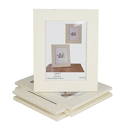 Amazon.com: Unfinished Solid Wood Photo Picture Frames 5x7 Inch ...