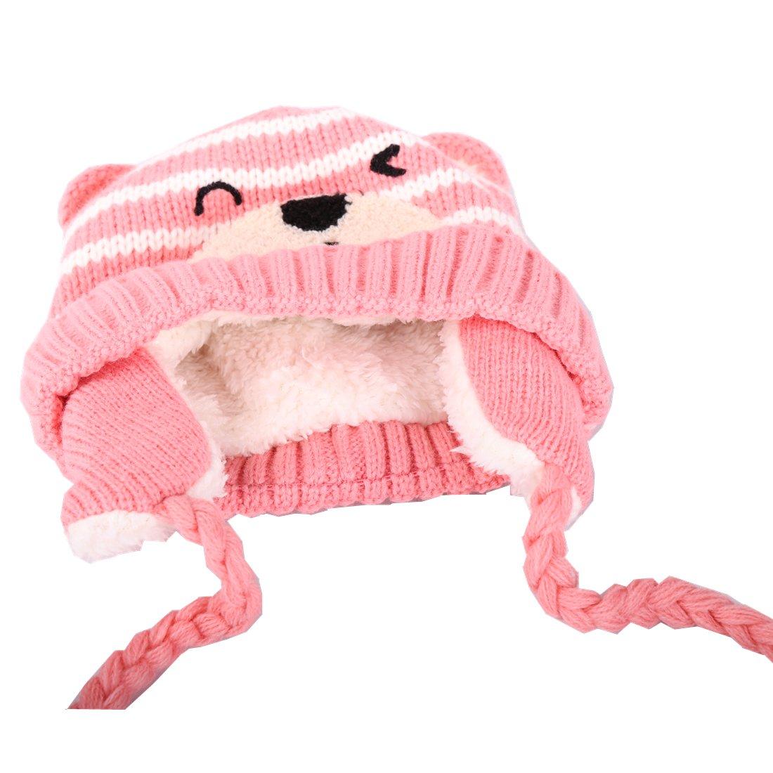YUANMY Sombrero de Bebé Niños Tejido Gorros Recien Nacido Animales con Orejas  Lana Otoño Invierno 6-24 Meses  Amazon.es  Ropa y accesorios 609e9b7d31e