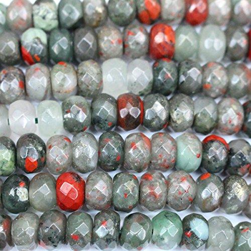 Jasper Rondelle Beads - 6