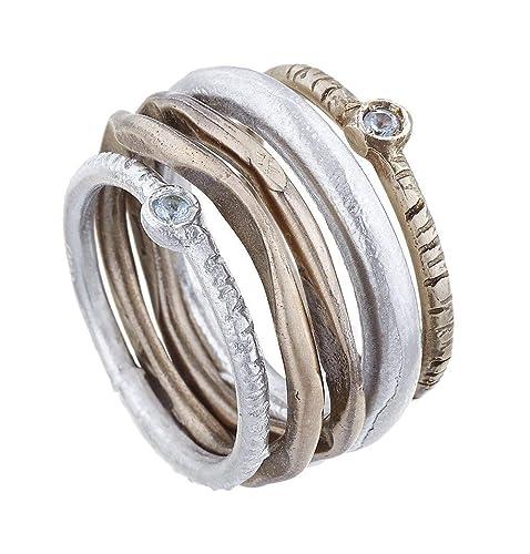 outlet online prezzo ragionevole prezzo economico anello Gruppo Fedine Castone: Amazon.it: Handmade