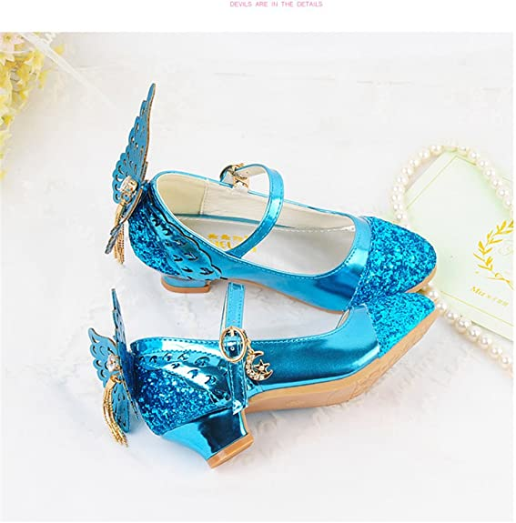 Believed Casual Girls Shoes Bowknot Flat Heels with Low-Cut Design Soft Anti-Slip Kids Dress Shoes