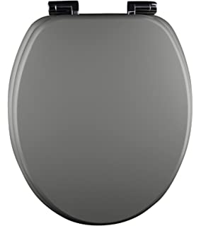 Eisl Spirit Toilet Seat with Soft Close Mechanism  Pack of 1 Grey EISL ED09520SC MDF Closing Function