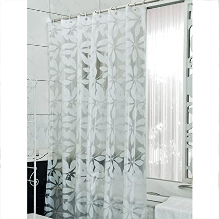 LIUFEI Translucent Shower CurtainPartition Wall Insulation Curtains Mildew Waterproof Curtain Size