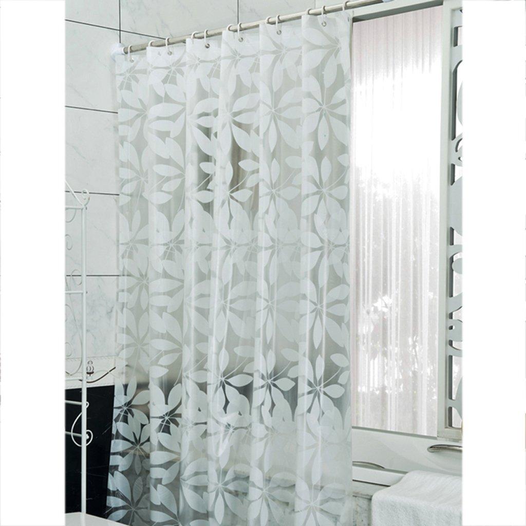 Curtain Translucent Shower Curtain, PEVA Thickened Fabric, Mildew Waterproof Shower Curtain,Send Hook Shower Equipment (Size : 200200cm)