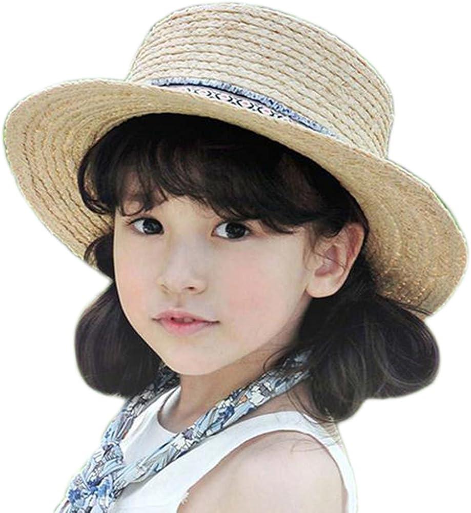 Leisial Sombrero de Paja Playa Ocio Gorro Visera para el Sol al Aire Libre Viaje Verano para Chicas Ni/ñas
