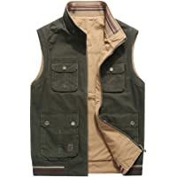LuckYoung Men's Outdoor Multi Pockets Work Utility Reversible Fishing Sports Vest